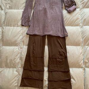 Matilda Jane gray tunic and brown Finn pants